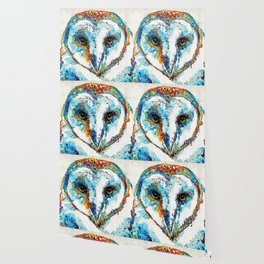 Colorful Barn Owl Art - Birds by Sharon Cummings Wallpaper