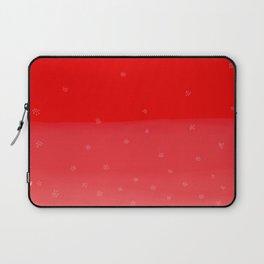 Snowflakes in Red Laptop Sleeve