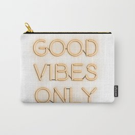 Neon Good Vibes - Orange Carry-All Pouch