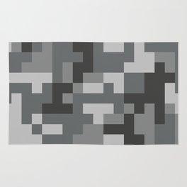 Grey Urban Pixel Camo pattern Rug