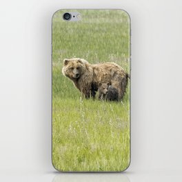 Mother Brown Bear With Her Two Cubs, No. 1 iPhone Skin