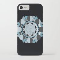 moon phases iPhone & iPod Cases featuring Moon Phases by TypicalArtGuy