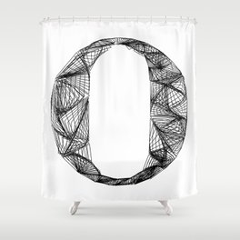 ''City Collection'' - Minimal Letter O Print Shower Curtain
