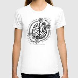 Left Brain, Right Brain- Latin Sayings (Dead Language) T-shirt
