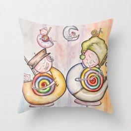 Sugar Addicts Take a Nap Throw Pillow