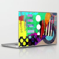 good vibes Laptop & iPad Skins featuring Good Vibes by Lynsey Ledray