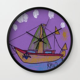 Day's End Sail Wall Clock