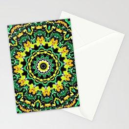 Orange Yellow and Green Kaldeidoscope 2 Stationery Cards