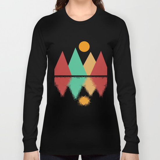 Moon Over Four Peaks Long Sleeve T-shirt