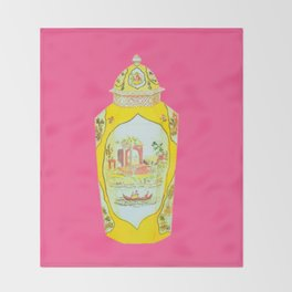 ROYAL WORCESTER PRINT PINK Throw Blanket