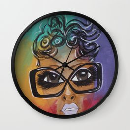 Selfie x 2 Wall Clock