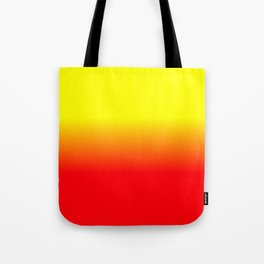 Neon Red and Neon Yellow Ombré  Shade Color Fade Tote Bag