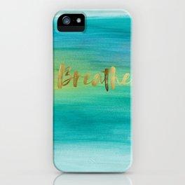Breathe, Ocean Series 4 iPhone Case