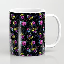 Flowers Glow In The Dark Coffee Mug