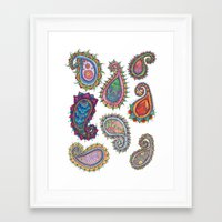 paisley Framed Art Prints featuring Paisley by WelshPixie