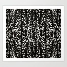 Black and White Grunge Tonal Print Art Print