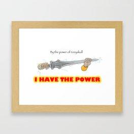 POWER SWORD Framed Art Print