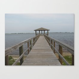 Gulf Shores Resort Pier Canvas Print