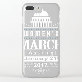 Million Women's March on Washington 2017 Redbubble T-Shirts Clear iPhone Case