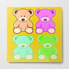 muticolor cute teddy bears Metal Print