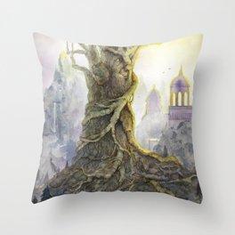 Le vieil arbre - The old tree Throw Pillow