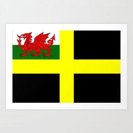 Flag of Saint David Art Print
