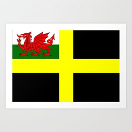 Flag of Saint David Art Print