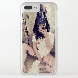 Hotel Fuzz Nights Clear iPhone Case