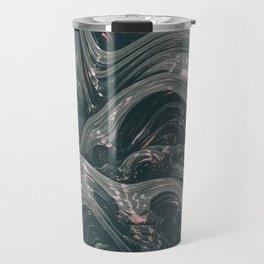 turne II. Abstract Charcoal Melt Travel Mug