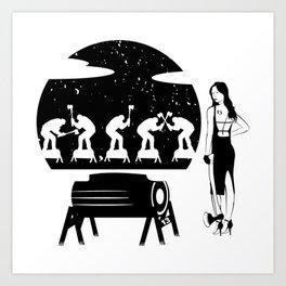 WOODCHOPPING WOMAN Art Print