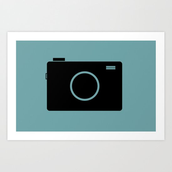 Photo Camera - Minimal Icon Art Print