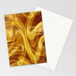 Abstract Marbled Gold Stationery Cards