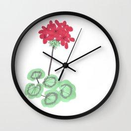 Wembley Gem Red Flower Wall Clock