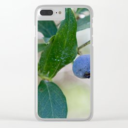 Blueberry Farm 2 Clear iPhone Case