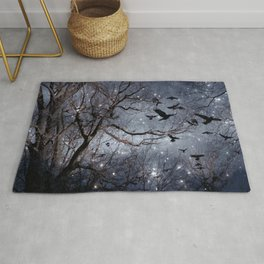Woodland Crows And Bursting Stars Rug