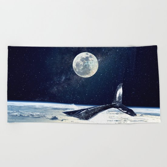 Stay in Space Beach Towel