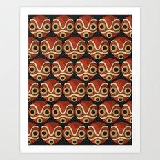Mononoke-hime Pattern Art Print
