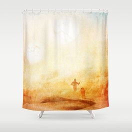 Lost in the Desert Shower Curtain