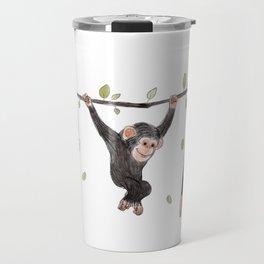 Baby Chimps at Play Travel Mug