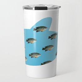 Fishy Outline Travel Mug