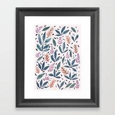 Painted Leaves Framed Art Print