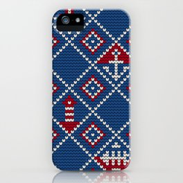 Grandma's knitting pattern for Saylor's Ugly sweater iPhone Case