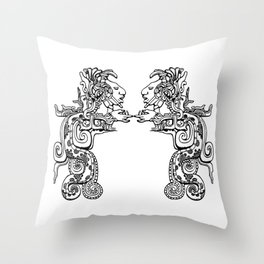 Maya Serpent Throw Pillow