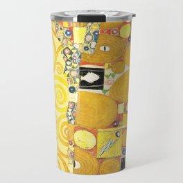 "Gustav Klimt ""Fulfillment"" Travel Mug"