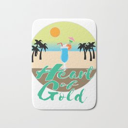 A Great & peaceful mind with a very kind Heart for a valued goodness expression allude Heart of gold Bath Mat