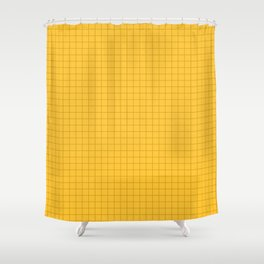YELLOW GRID Shower Curtain