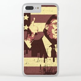 TRUMP NEW WORLD ORDER Clear iPhone Case