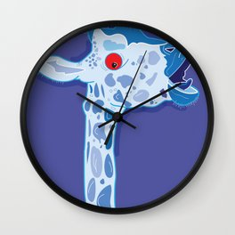 Zombie Giraffe Wall Clock