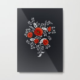 Poppy graphic Metal Print