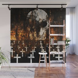 """""""Death Reigns"""" - Skull and Crosses Wall Mural"""